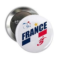 "France World Cup Soccer 2.25"" Button (10 pack)"
