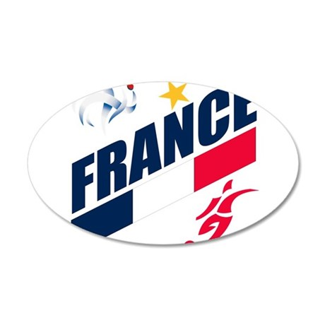 France World Cup Soccer 38.5 x 24.5 Oval Wall Peel
