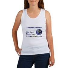 Custom Best Teacher Women's Tank Top