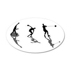 Athletics Field Events 38.5 x 24.5 Oval Wall Peel