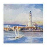Boston Light 2 Art Tile Coaster
