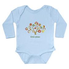think green enviro tree Long Sleeve Infant Bodysui