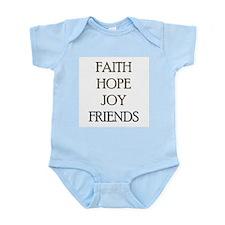 FAITH HOPE JOY FRIENDS Infant Bodysuit