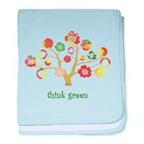 think green enviro tree baby blanket