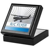 RC Flyer Hign Wing Airplane Keepsake Box