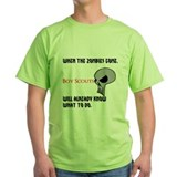 Boy Scouts vs Zombies Class B Green Shirt