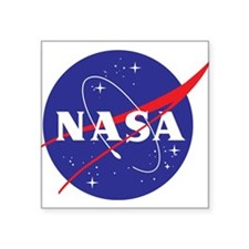"NASA Logo Square Sticker 3"" x 3"""