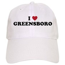 I Love Greensboro North Carolina Baseball Cap