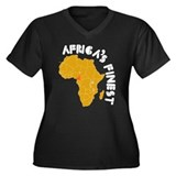 Cameroon Africa's finest Women's Plus Size V-Neck