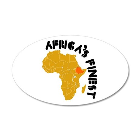 Ethiopia Africa's finest 38.5 x 24.5 Oval Wall Pee