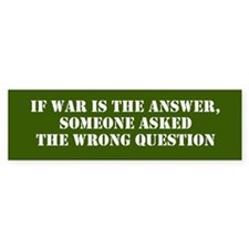 Wrong Question Bumper Bumper Sticker
