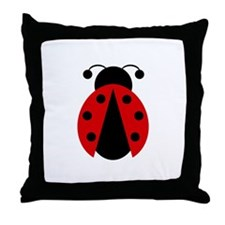 Lady Bug Throw Pillow