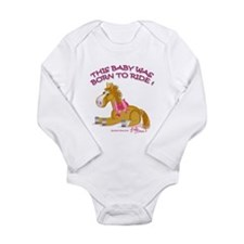 Funny Baby horse Long Sleeve Infant Bodysuit