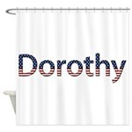 Dorothy Stars and Stripes Shower Curtain
