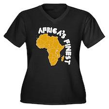 Rwanda Africa's finest Women's Plus Size V-Neck Da