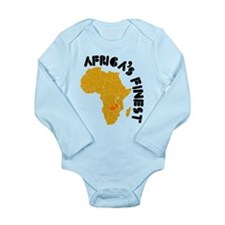 Zambia Africa's finest Long Sleeve Infant Bodysuit