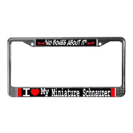 Miniature Schnauzer Gifts License Plate Frame
