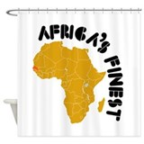 Senegal Africa's finest Shower Curtain