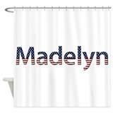 Madelyn Stars and Stripes Shower Curtain