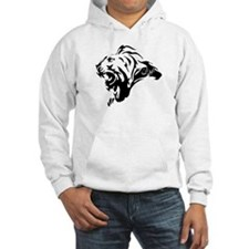 Lion with Iran (in persian) etched in mane Hoodie