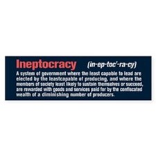 Ineptocracy Definition Bumper Sticker