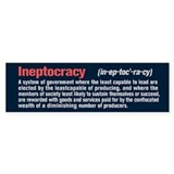 Ineptocracy Definition Car Sticker