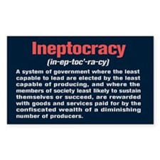 Ineptocracy Definition Stickers
