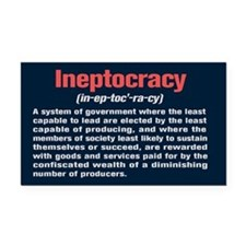 Ineptocracy Definition Rectangle Car Magnet