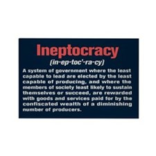 Ineptocracy Definition Rectangle Magnet (100 pack)