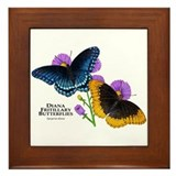 Diana Fritillary Butterflies Framed Tile