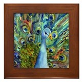 Peacock Party Framed Tile