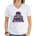 Trucker Chloe Women's V-Neck T-Shirt