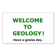 Geology Welcome 3 Decal