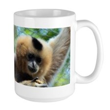 Golden-Cheeked Gibbon eatting 9 Mug