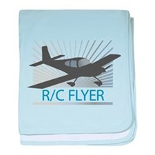 RC Flyer Low Wing Airplane baby blanket