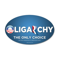 Oligarchy 2012 38.5 x 24.5 Oval Wall Peel