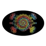 Tie-Dyed Antique Skull Decal