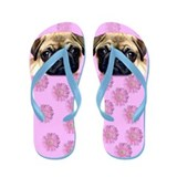 Pug Dog Flip Flops