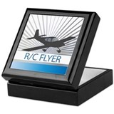 RC Flyer Low Wing Airplane Keepsake Box