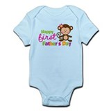 Girl Monkey Happy 1st Fathers Day Infant Bodysuit