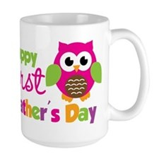 Girl Owl Happy 1st Fathers Day Mug