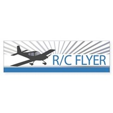 RC Flyer Low Wing Airplane Bumper Sticker