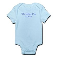 re-election day 11.06.12 blue on Infant Bodysuit