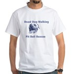 Smiling Pitbull White T-Shirt
