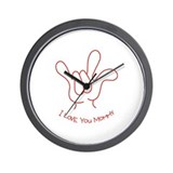 """I Love You Mommy"" Sign Language Wall Clock"