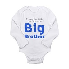 Cute Little big brother Long Sleeve Infant Bodysuit