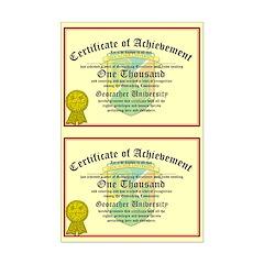 Certificate of Achievement - 1000 (Double