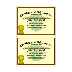 Certificate of Achievement - 5000 (Double