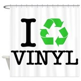 I Recycle Vinyl Shower Curtain