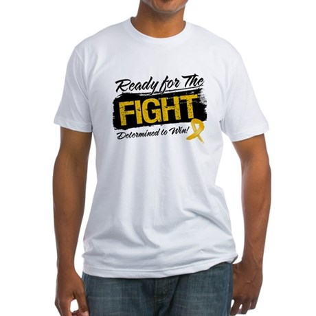Ready Fight Appendix Cancer Fitted T-Shirt